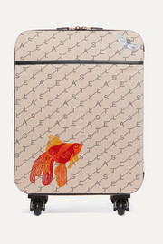 Stella McCartney Faux leather-trimmed printed canvas suitcase