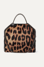 Stella McCartney The Falabella small leopard-print faux suede tote