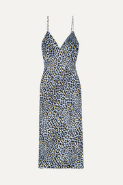 Issa leopard-print silk-satin nightdress