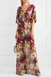Delphine floral-print silk-georgette maxi dress