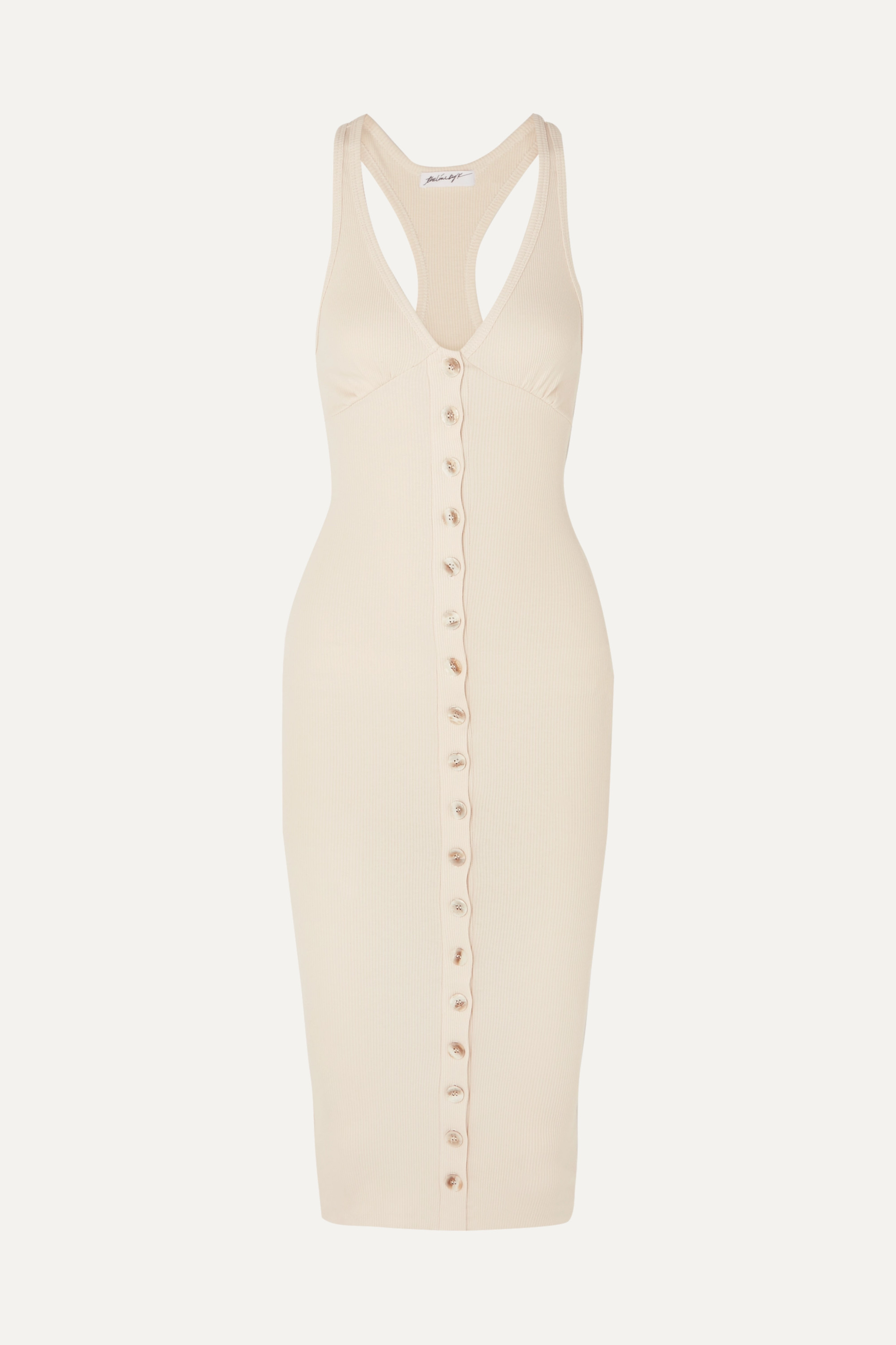 The Line By K Harper ribbed stretch-cotton jersey dress
