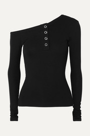 The Line By K Harley off-the-shoulder ribbed-jersey top