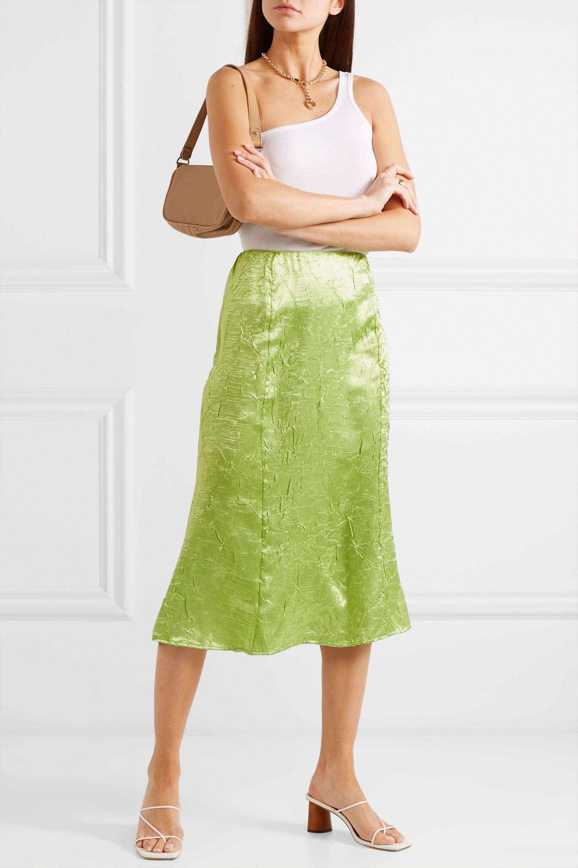 The Line By K Grace crinkled-satin midi skirt