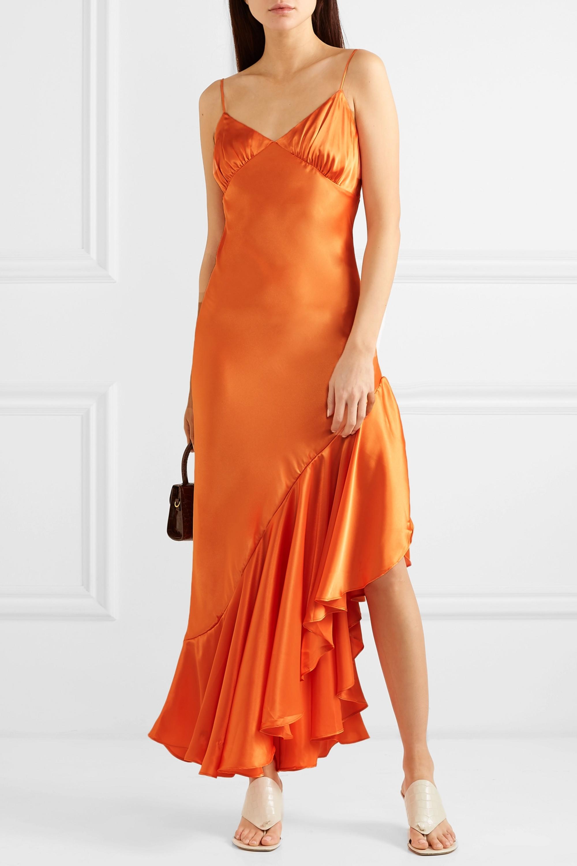 The Line By K Allegra asymmetric ruffled satin dress