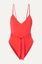 + NET SUSTAIN Gamela belted swimsuit