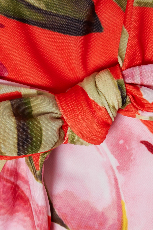 Mara Hoffman + NET SUSTAIN Rio knotted floral-print bikini top