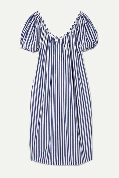 + Net Sustain Romina Oversized Striped Organic Cotton Midi Dress by Mara Hoffman