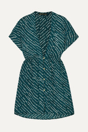 ViX Ventana Ocean Fuji printed voile mini dress