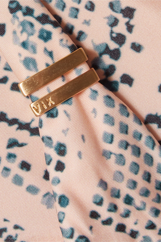 ViX Nusa Bia embellished snake-print triangle bikini top