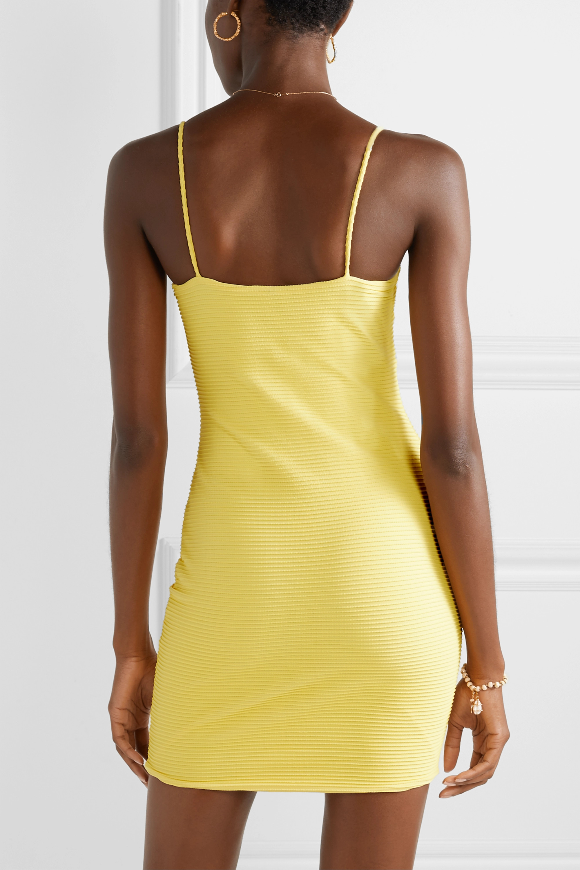 ViX Sunkisses ribbed stretch-jersey mini dress