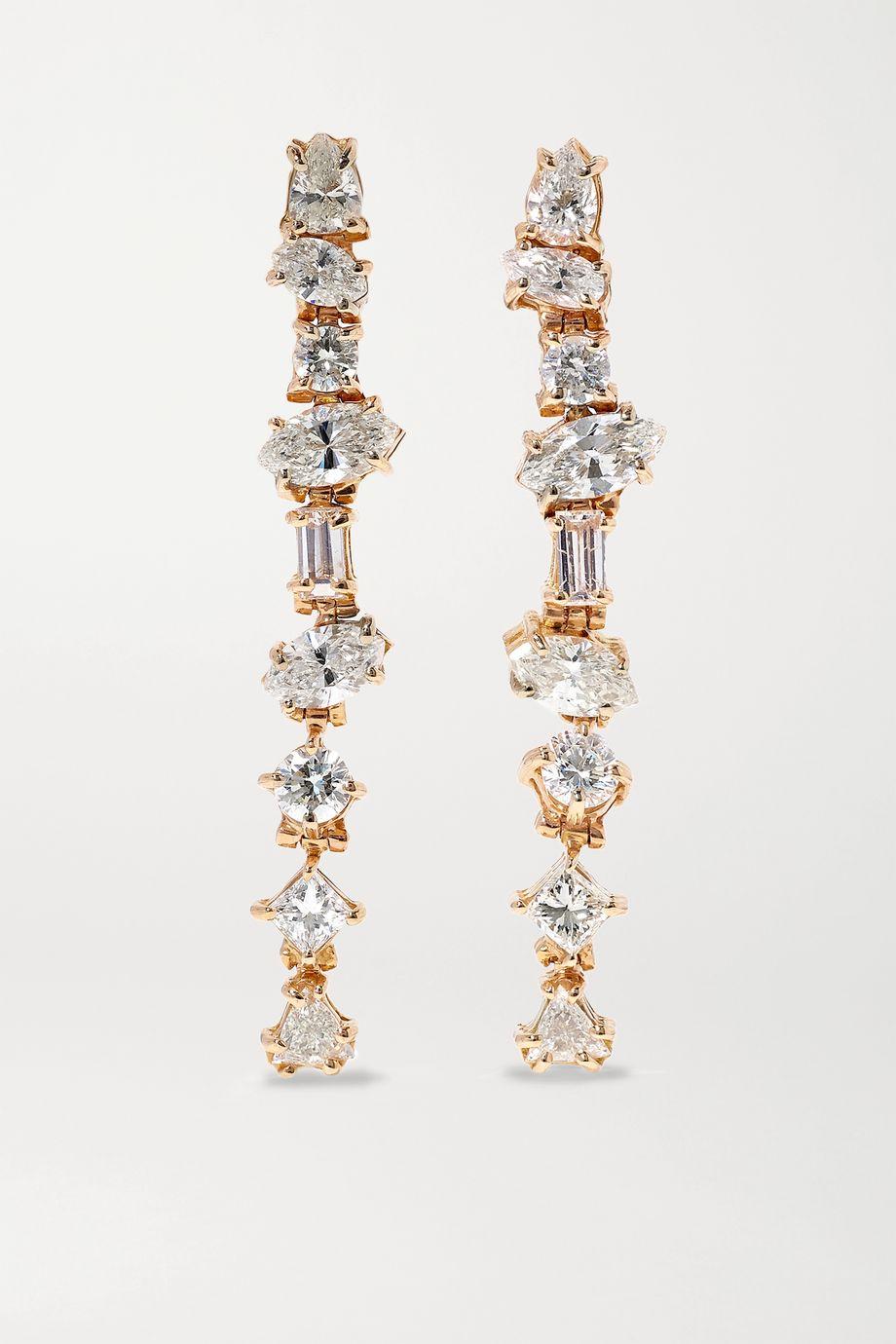 Kimberly McDonald 18-karat rose gold diamond earrings