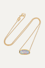 Kimberly McDonald 18-karat gold opal necklace