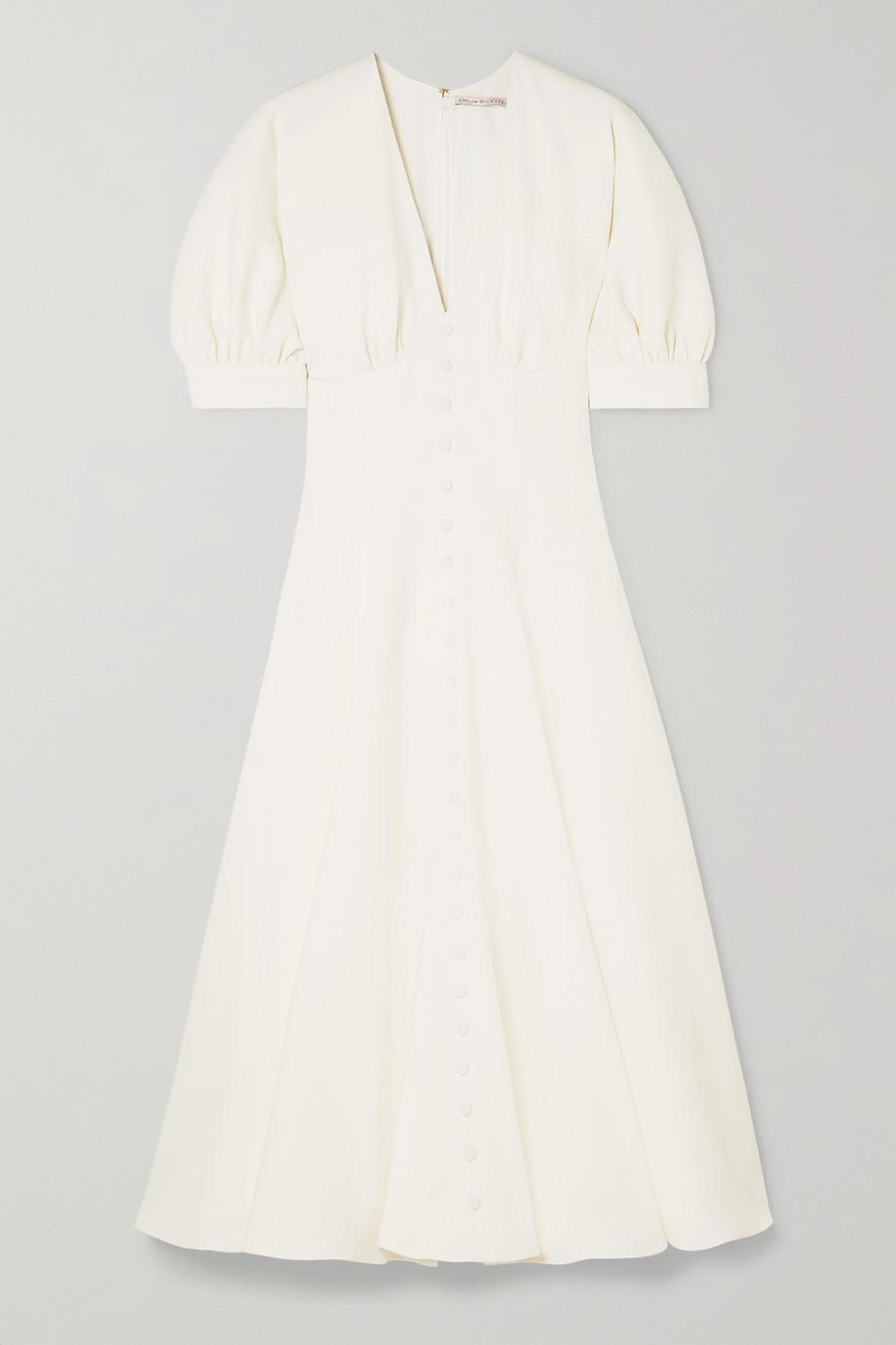 Emilia Wickstead Bria wool-crepe midi dress