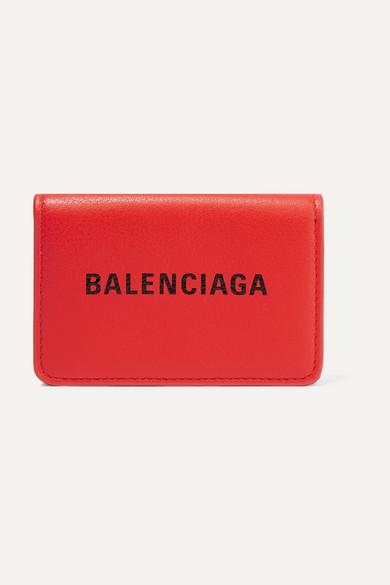 BALENCIAGA | Balenciaga - Everyday Mini Printed Leather Wallet - Red | Goxip