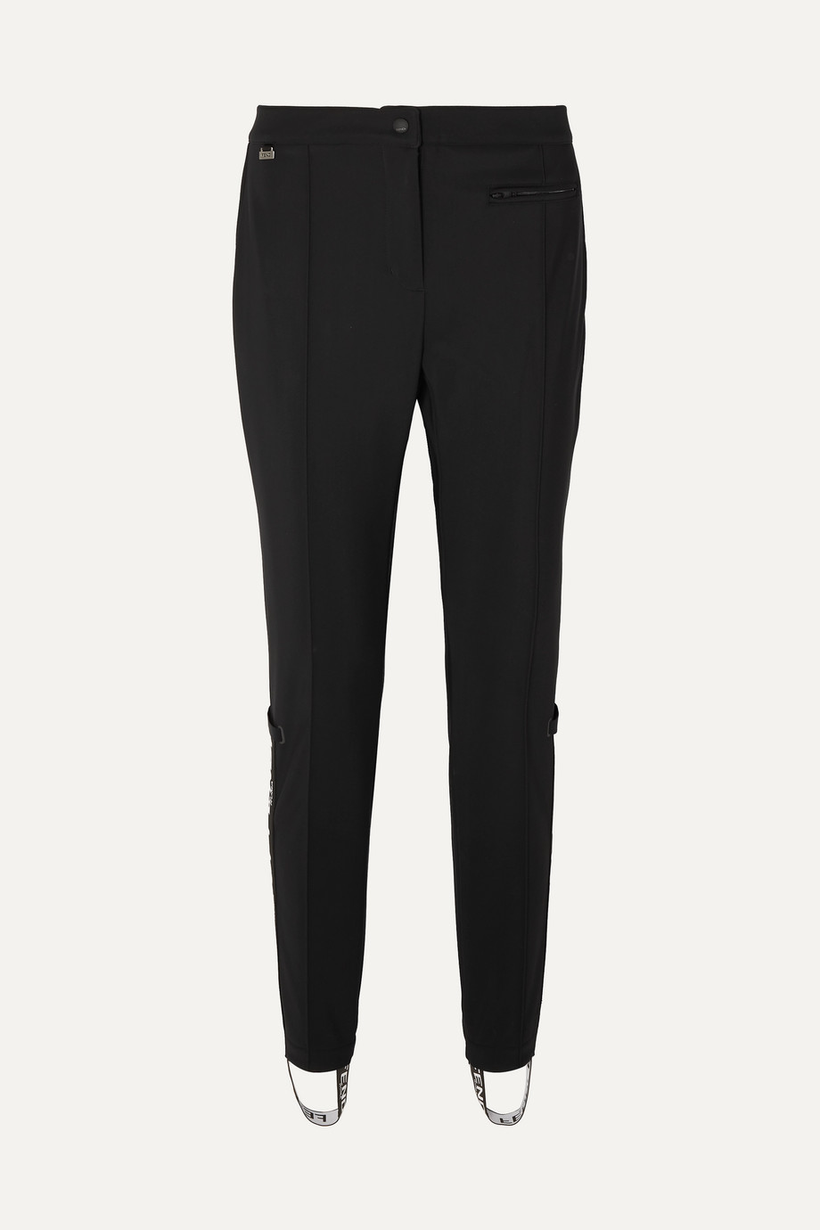 Fendi Roma jacquard-trimmed tapered stirrup ski pants