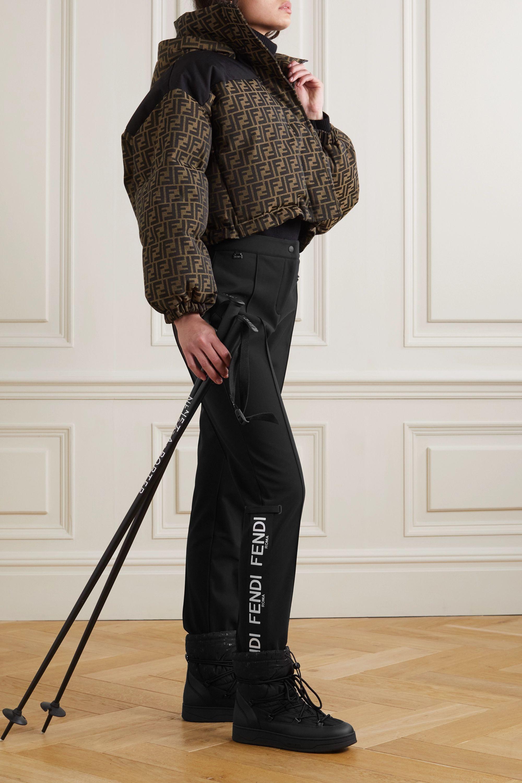 Fendi Roma jacquard-trimmed tapered stirrup ski pants