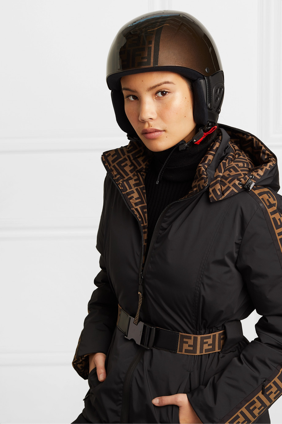 Fendi 印花滑雪头盔