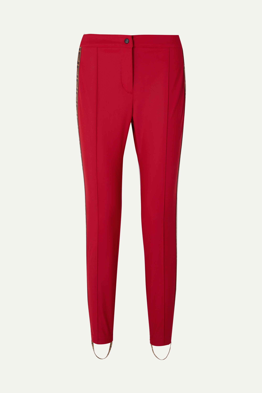 Fendi Roma jacquard-trimmed stirrup ski pants