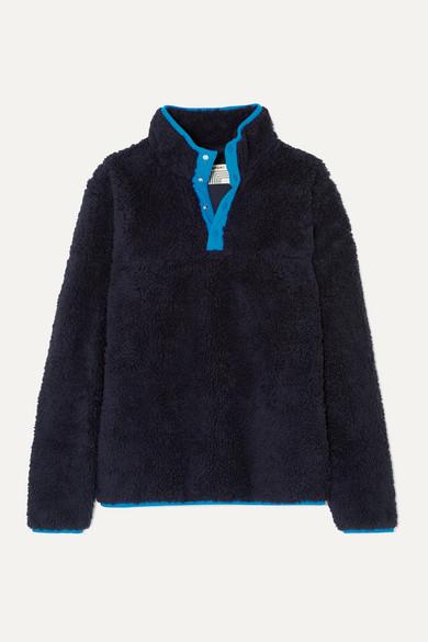 Tory Sport Jackets Sherpa shell-trimmed cotton-blend fleece jacket