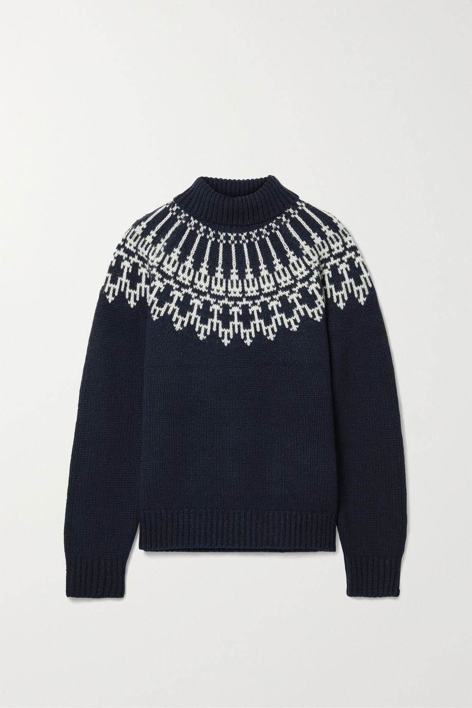 Tory Sport 费尔岛式杂色图案羊毛毛衣