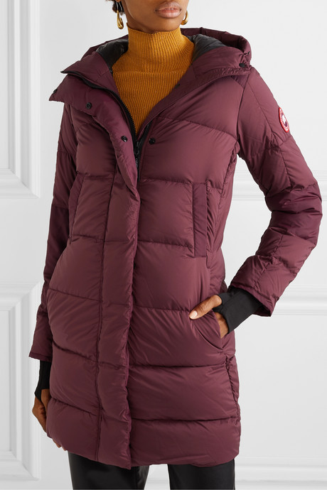 Alliston hooded quilted shell down coat