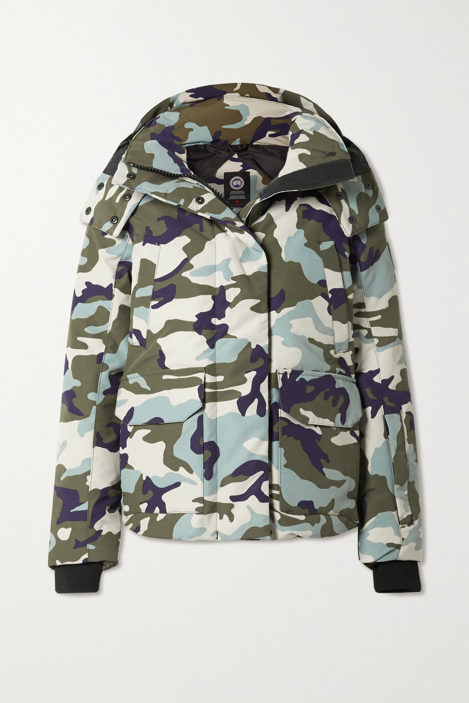 Canada Goose Blakely camouflage-print hooded shell down jacket