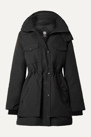 Gabriola hooded quilted shell down parka