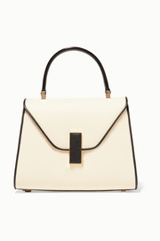 Iside mini two-tone textured-leather tote