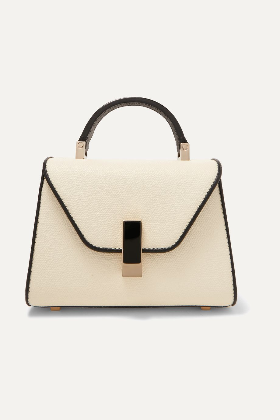 Valextra Iside micro two-tone textured-leather shoulder bag