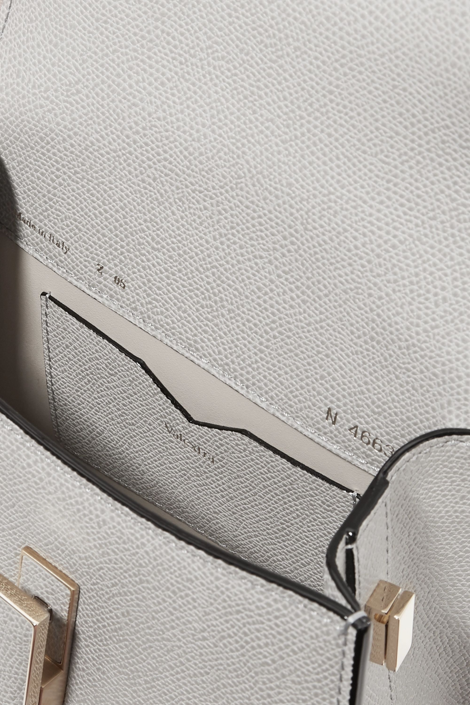 Valextra Iside micro textured-leather shoulder bag