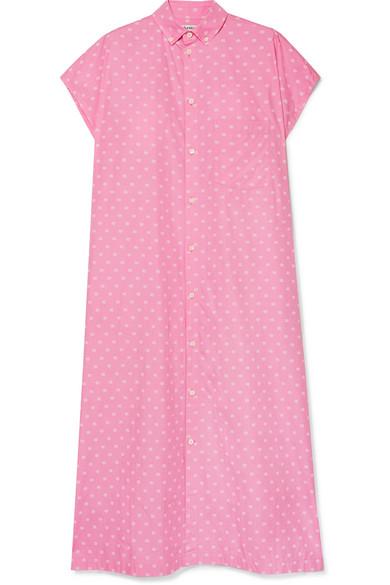 BALENCIAGA | Balenciaga - Printed Cotton-Poplin Shirt Dress - Baby Pink | Goxip