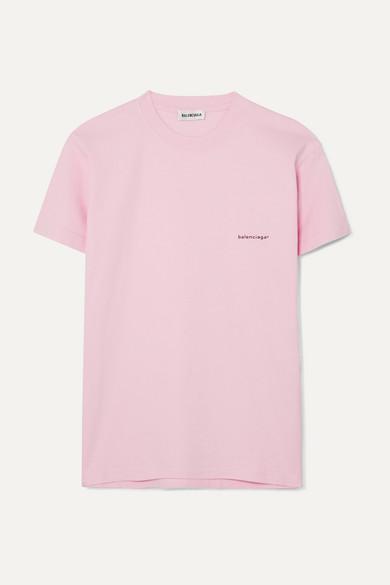 Balenciaga Shirts Printed cotton-jersey T-shirt