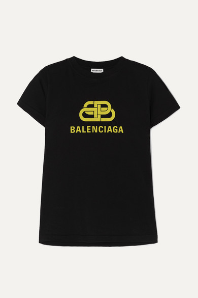 Balenciaga Shirts Printed cotton-jersey T-shirt
