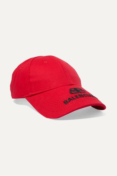 BALENCIAGA | Balenciaga - Embroidered Cotton-Twill Baseball Cap - Large | Goxip