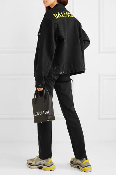 Balenciaga Jackets Oversized embroidered denim jacket