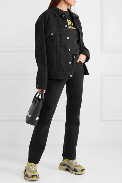 Balenciaga Jeans Distressed high-rise straight-leg jeans