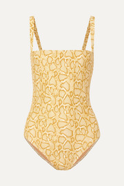 Faithfull The Brand Phoebe snake-print swimsuit