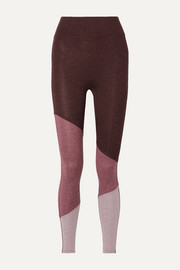 We Over Me The Exhale color-block stretch-jersey leggings