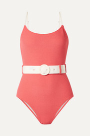 Solid & Striped The Nina belted terry swimsuit