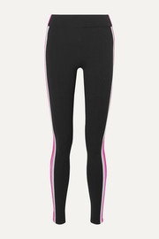 NO KA'OI Verticle striped stretch leggings