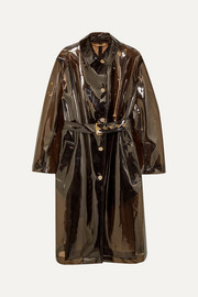 Versace PVC trench coat