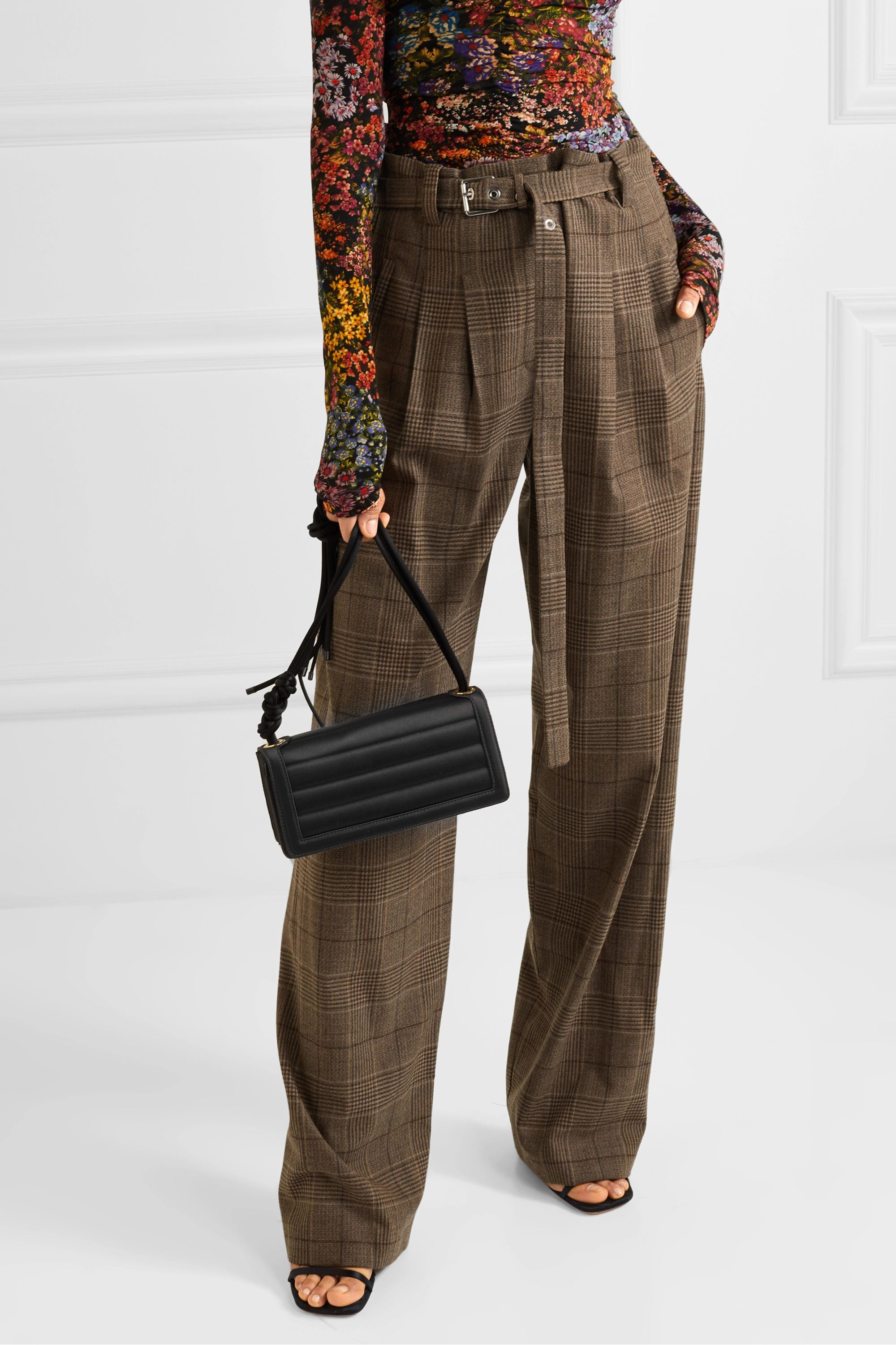 Dries Van Noten Quilted satin shoulder bag