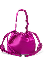 Satin bucket bag