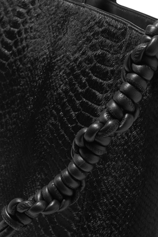 Dries Van Noten Sac à main en façon poulain effet serpent