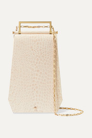 Eloine croc-effect leather shoulder bag