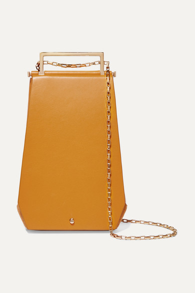 MAISON ETNAD | Maison Etnad - Eloine Mini Suede And Textured-Leather Shoulder Bag - Yellow | Goxip