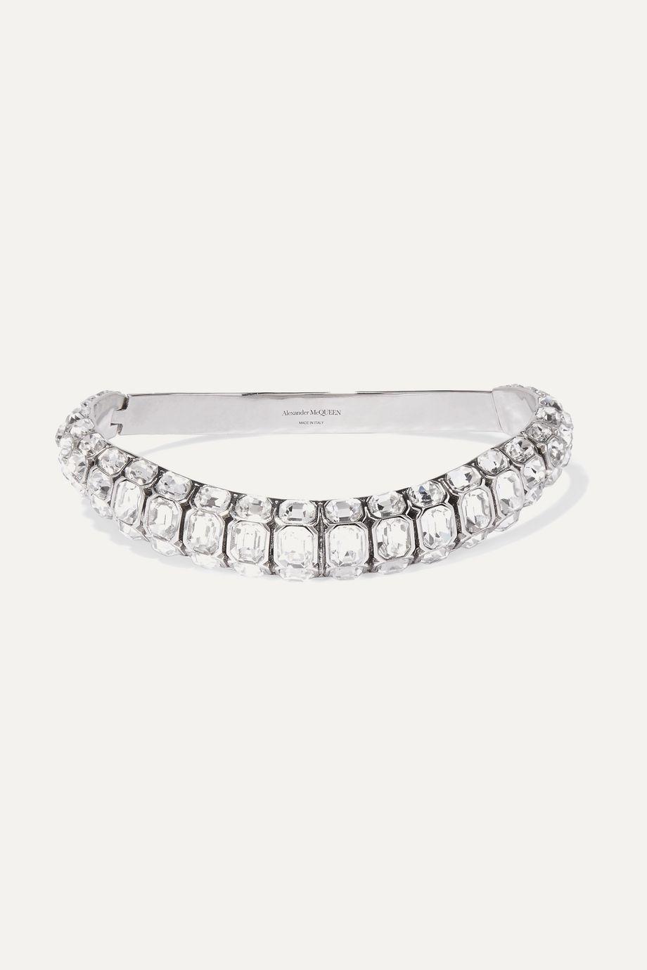 Alexander McQueen Silver-tone crystal choker