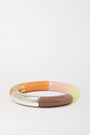 Resin, gold and silver-plated bangle