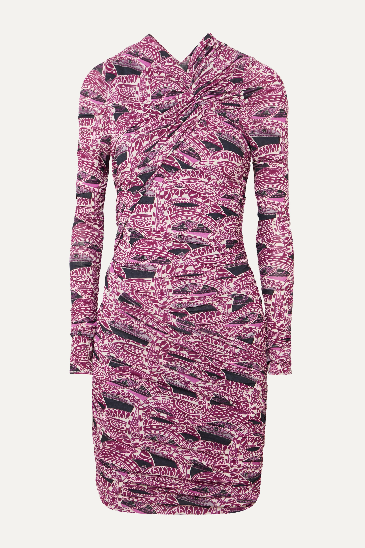 Isabel Marant Jobia ruched printed stretch-jersey mini dress
