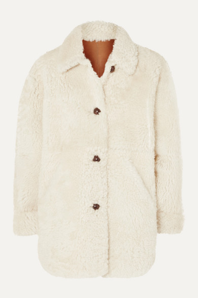 Sarvey Oversized Shearling Coat by Isabel Marant